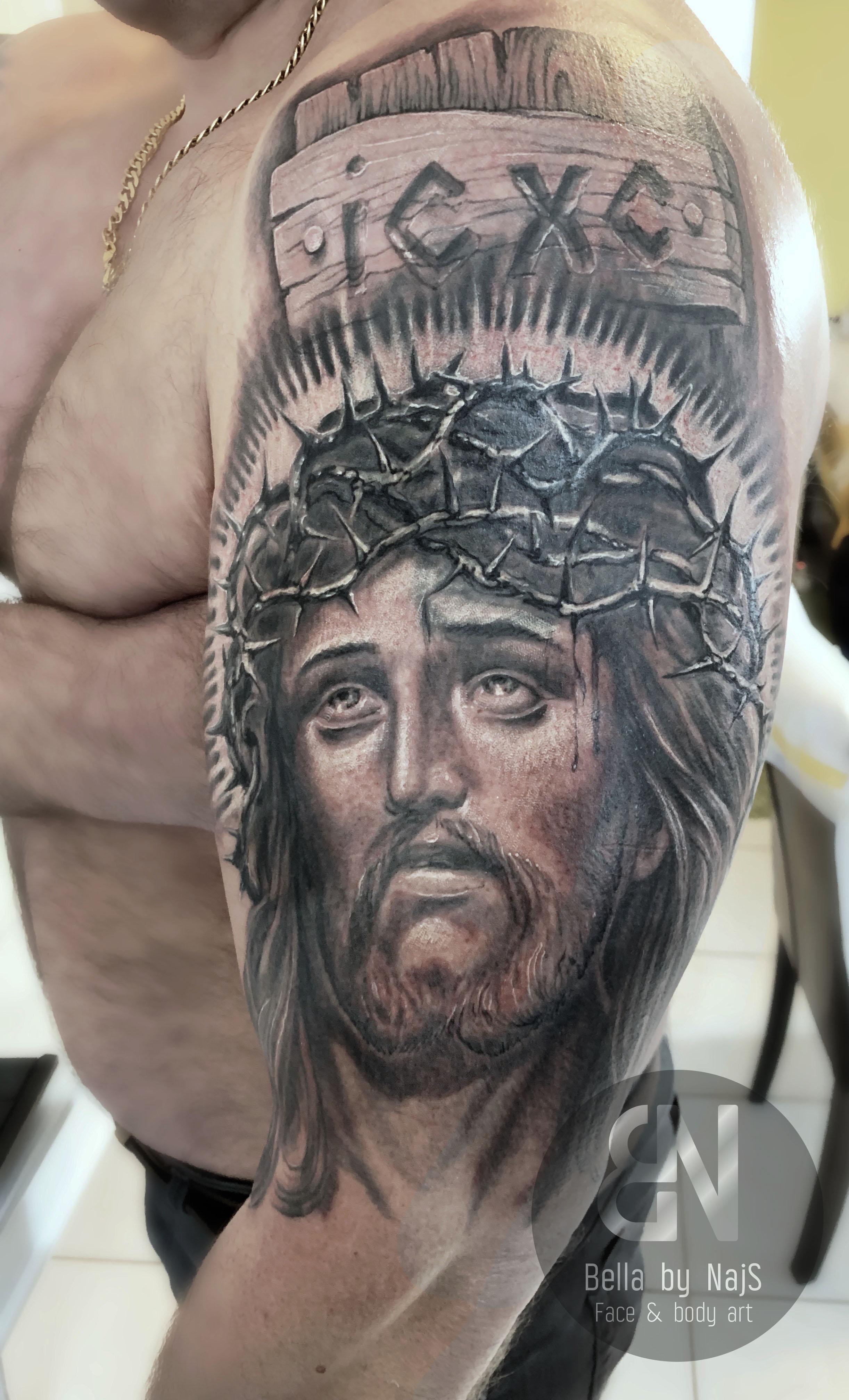 Jesus Rosenkranz Tattoo